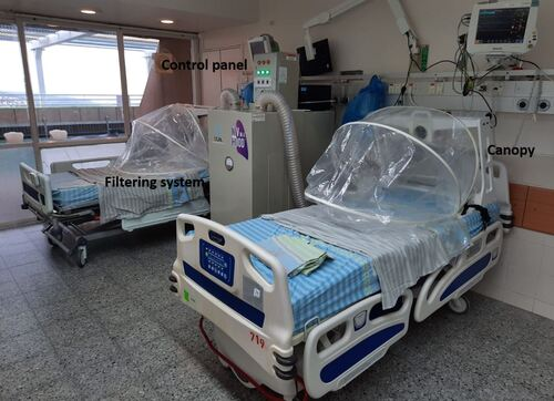 Cost-effective canopy protects health workers from COVID infection during ventilation - article image